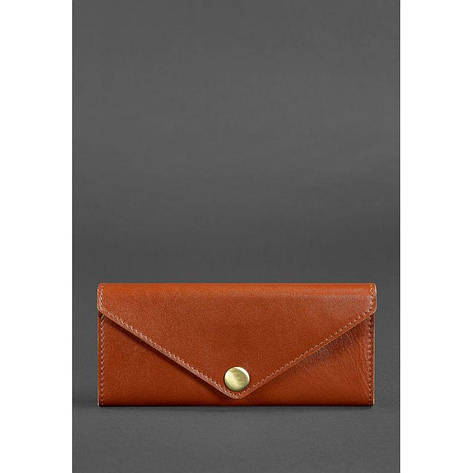 Женский кожаный кошелек Керри 1.0 светло-коричневый, фото 2