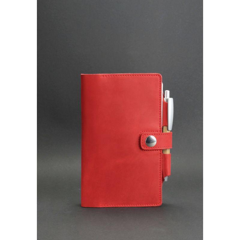 Женский кожаный блокнот (Софт-бук) 4.0 коралловый