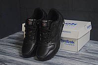 Reebok Classic черные рибок класик кроссовки женские кеды жіночі