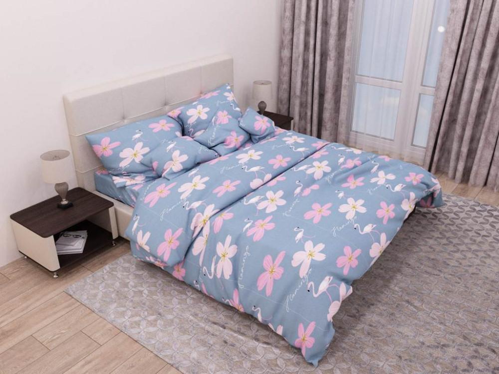 Постельное белье Милый фламинго бязь ТМ Комфорт-текстиль Евро