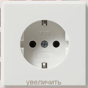 Gira 018866. Розетка с заземляющими контактами TX_44 белый