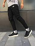 Чоловічі спортивні штани карго на манжеті чорні. Живе фото, фото 3