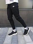 Чоловічі спортивні штани карго на манжеті чорні. Живе фото, фото 4