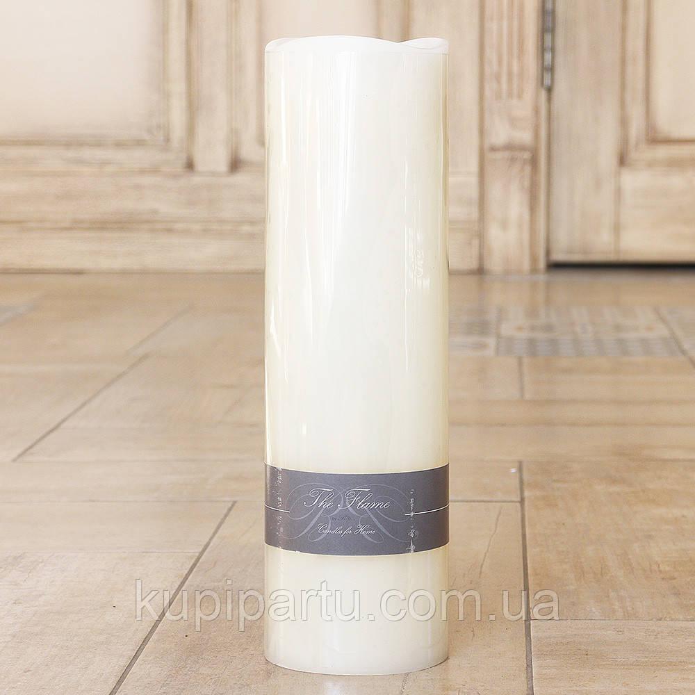 Светодиодная свеча ночник Пламя кремовый воск h30см d9см 2591200