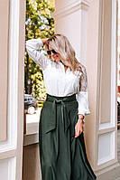 Женская батальная миди юбка