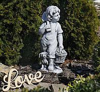 Садовая фигура Деревенский мальчик 27.5×23.2×60.5cm SS0877-16, фото 1
