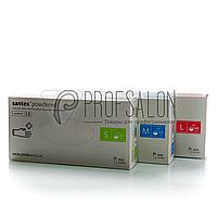 Рукавички латексні білі Nitrylex PF Santex текстуровані на пальцях, опудрені, 50пар в упаковці M