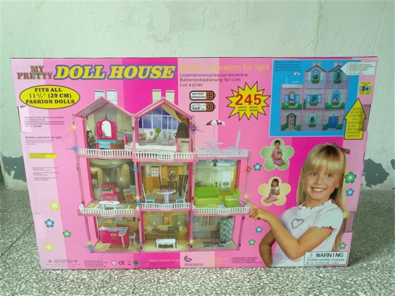 Игровой домик для кукол 3 этажа HC268375