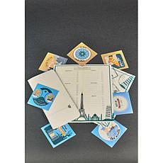 Женский тревел-кейс 1.0 из фетра с кожаными бирюзовыми вставками, фото 2