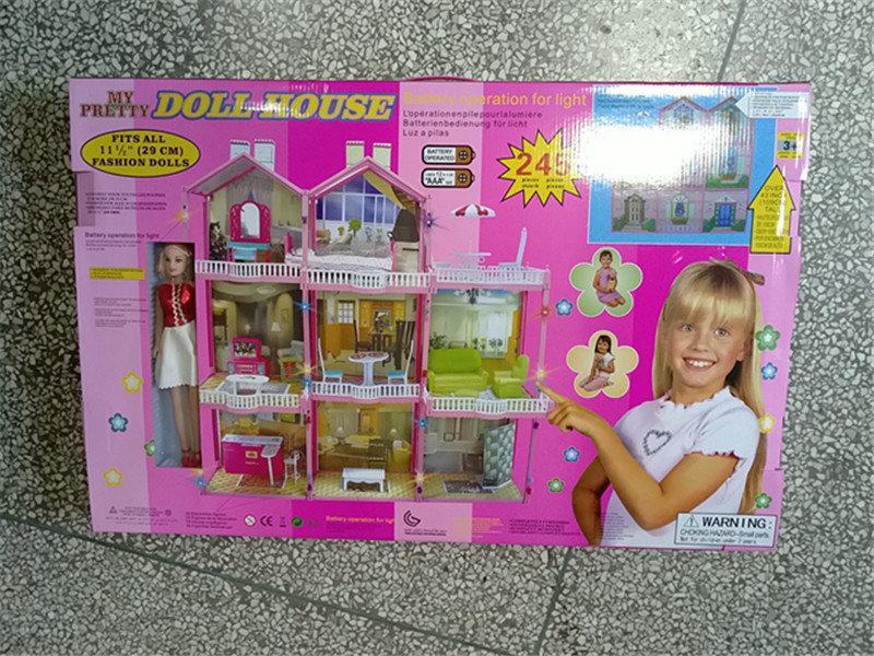 Игровой домик для кукол 3 этажа