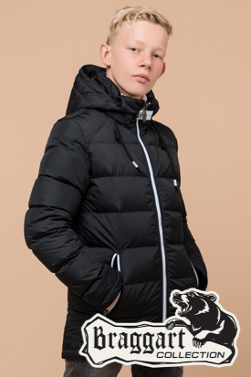 Качественная зимняя куртка на мальчика Braggart Kids (р. 34, 36, 38) арт. 60455M