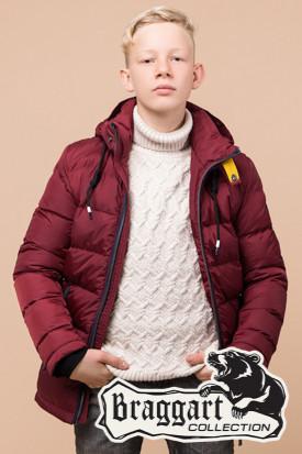Фирменная зимняя куртка на мальчика Braggart Kids (р. 34, 36, 38) арт. 60455E
