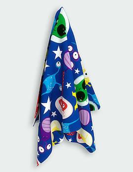 Детское полотенце из микрофибры Emmer CosmoZoo blue