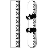 Наклейка на сноуборд Вышиванка белая