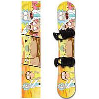 Наклейка на сноуборд Rick and Morty