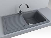 Кухонная мойка из искусственного камня 86*50 см Miraggio ORLEAN серый