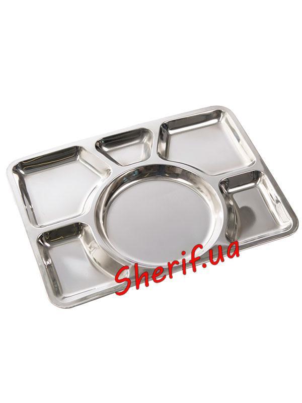 Столовый поднос  из нержавеющей стали (6 отделов) Mil-Tec Sixfold  14676000