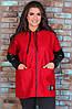 Подовжена тепла жіноча куртка з Букле та шкірозамінника, фото 6