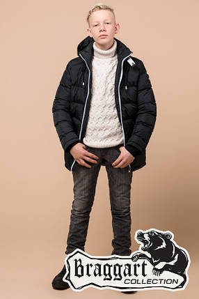 Качественная зимняя куртка на мальчика Braggart Kids (р. 34, 36, 38) арт. 60455M, фото 2
