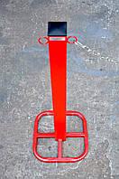 Столбик дорожный переносной из трубы 60х60, фото 1