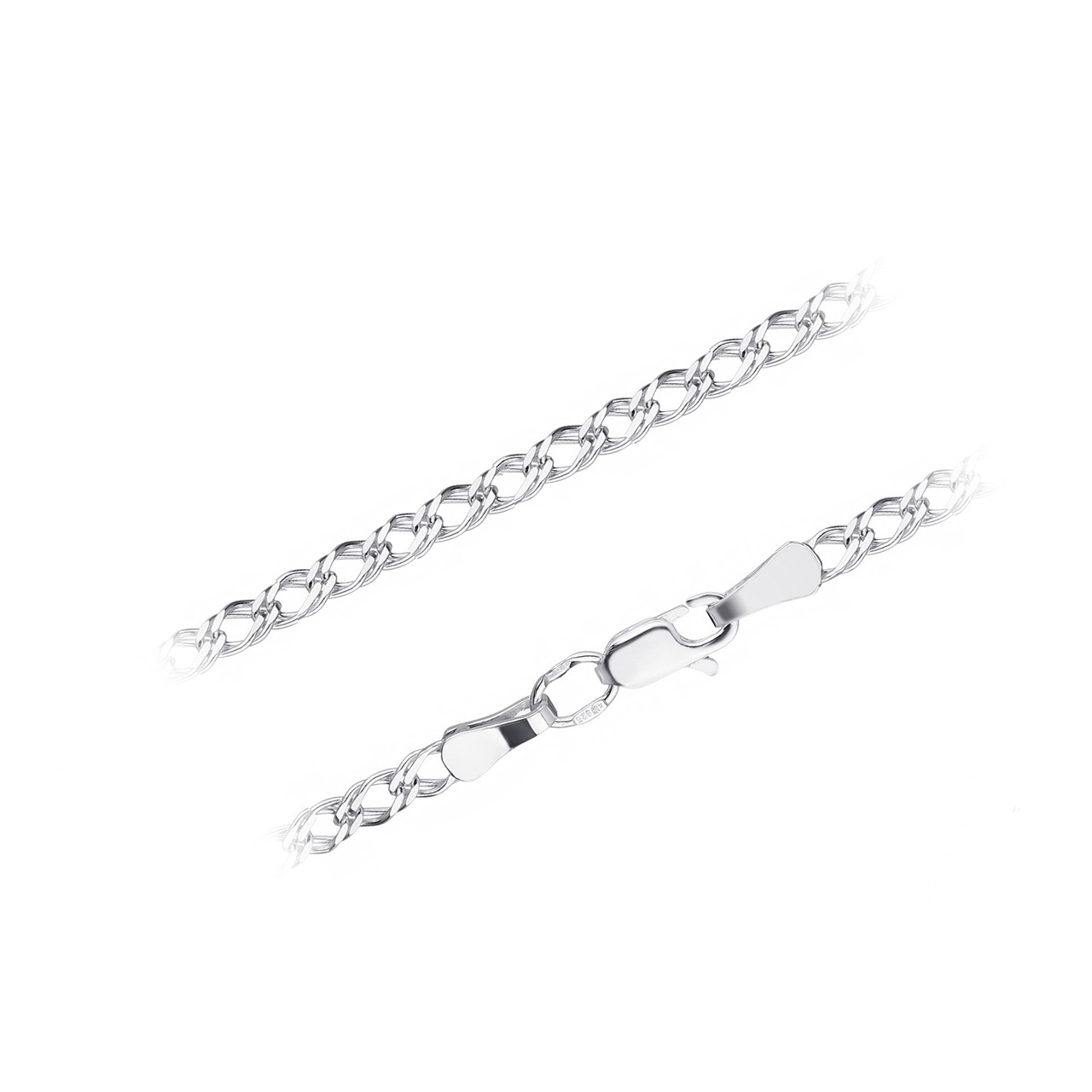Серебряный браслет ДВОЙНОЙ РОМБ 2 мм размер 18 см