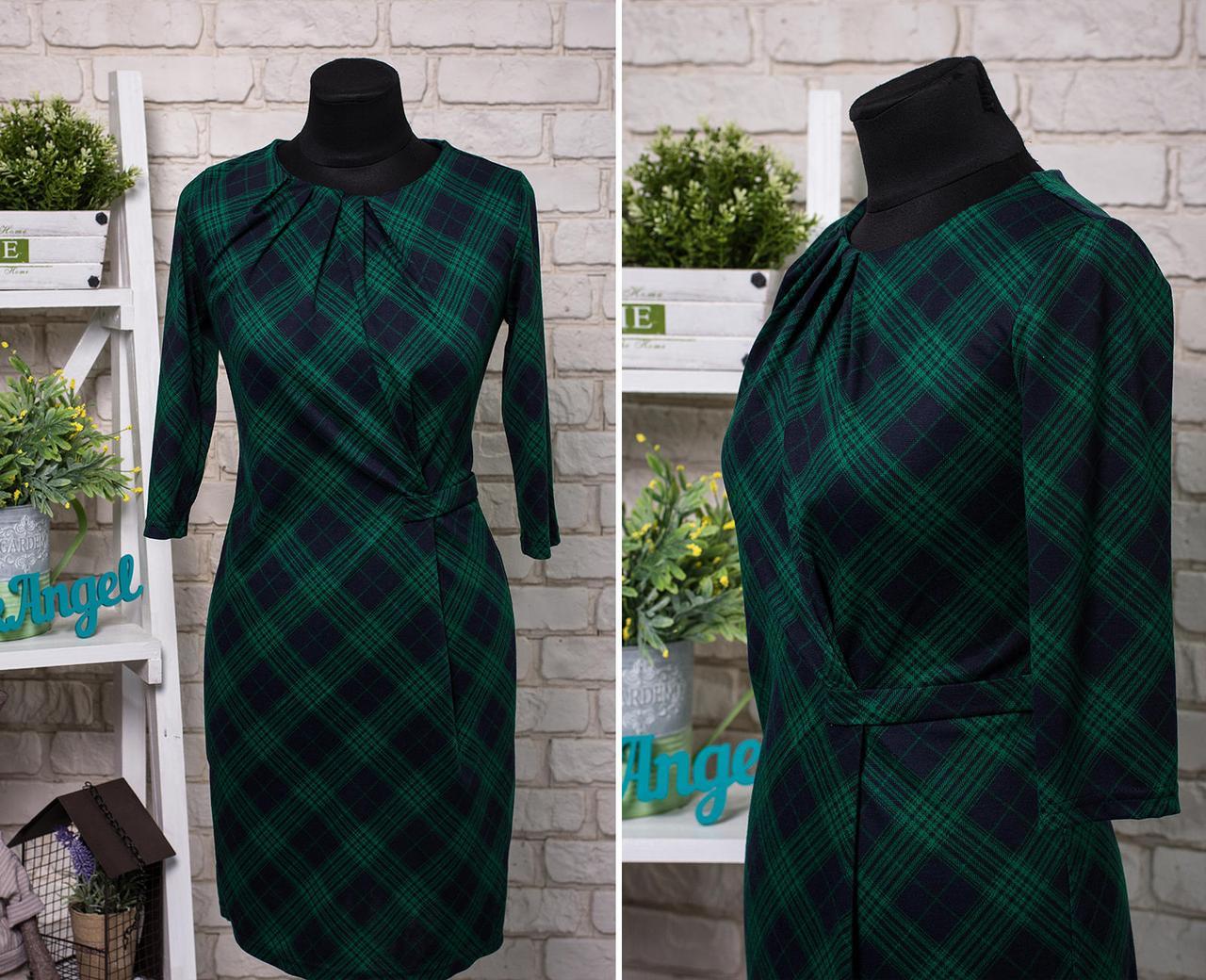 """Классическое, стильное женское платье ткань """"Мягкий трикотаж"""" 50 размер"""