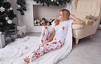 Новогодняя пижама с штанами для женщин одежда для дома
