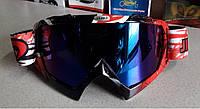 Кроссовые мото очки маска Эндуро Джей Поли чёрно красные, с затемнённым стеклом, фото 1