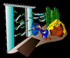 Принцип розрахунку втрат тепла крізь відчинені двері