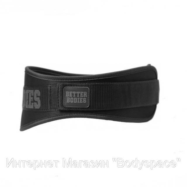 Better Bodies, Пояс атлетический неопреновый Basic Gym Belt, Black
