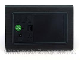 VST-864 часы настольные цифровые с будильником, датой и термометром,черные с зелеными цифрами, фото 2