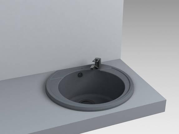 Кухонная мойка из искусственного камня 52*48*20 см Miraggio Tuluza серый, фото 2