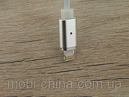 Micro USB DM-M15 Магнитный кабель для iPhone Magnetic серебро, фото 3