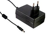 Адаптер живлення Mean Well GS18E48-P1J, 18 Вт, 48 В, 0,375 А роз'єм 2.1х5.5 мм