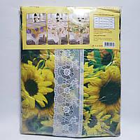 Скатерть виниловая шелкография на флизелиновой основе 150х220 см Подсолнухи