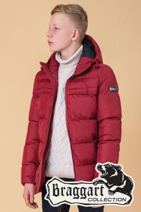 Брендовая зимняя куртка на мальчика Braggart Kids (р. 34, 36, 38, 40) арт. 65122O