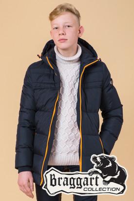 Зимняя куртка на мальчика 7-12 лет Braggart Kids (р. 34, 36, 38, 40) арт. 65122N