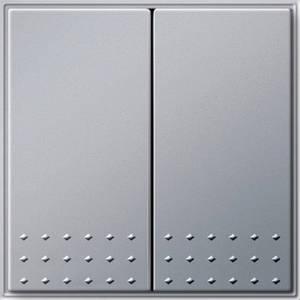 Gira 012565 Двухклавишный выключатель переключатель TX_44 (WG UP) алюминий