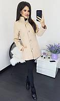 Женское стильное короткое пальто, фото 1