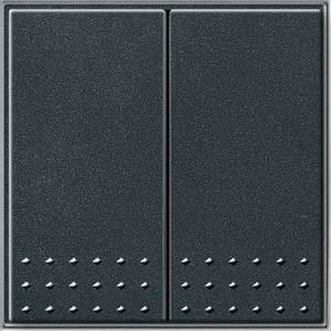 Gira 012567 Двухклавишный выключатель переключатель TX_44 (WG UP) антрацит