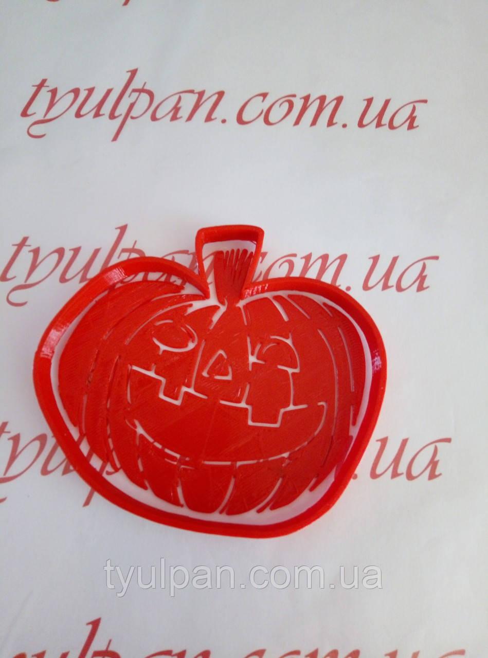 Вырубка с трафаретом тыква хэллоуин Halloween Форма для пряника 12 см можно др.размер и  форму