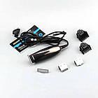 Профессиональная машинка для стрижки волос Gemei Gm-840 3 сменных лезвия, фото 2
