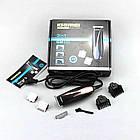 Профессиональная машинка для стрижки волос Gemei Gm-840 3 сменных лезвия, фото 3