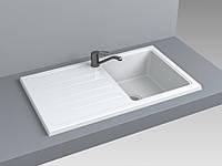 Кухонная мойка из искусственного камня 75*39*20 см Miraggio VERSAL белый
