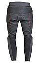 Мотоштаны кожаные Ozone Grip (Black), фото 2