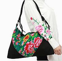 Тканевая женская сумка Цветы