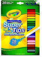 Смываемые водные фломастеры Крайола тонкие Crayola 20 штук