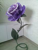 Ростовые цветы из изолона, светильник