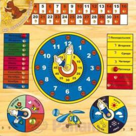 Деревянные часы - календарь