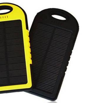 Портативное зарядное устройство Power Bank Solar 30000mAh с солнечной зарядкой Черный